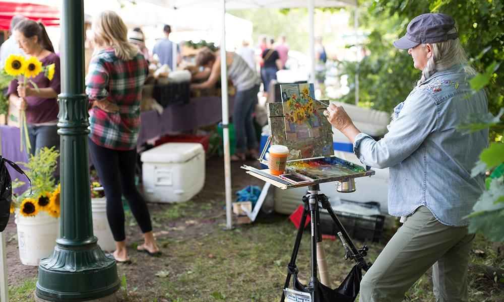 Plein Air Painting at the Farmers Market